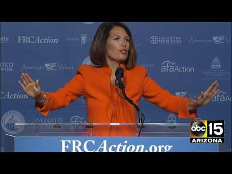 Michele Bachmann completely destroys Hillary Clinton at Voter Values Summit