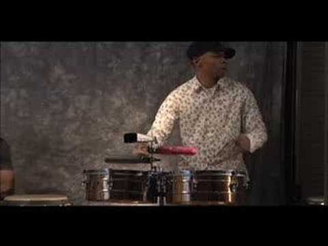Cuban percussionists, Marvin Diz and Yoel Del Sol