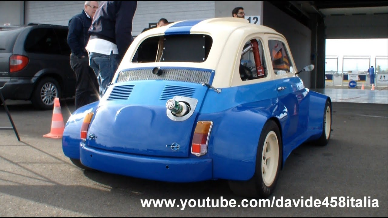 200 Hp Fiat 500 With Suzuki Hayabusa Gsx R1300 Engine Sound And Track Youtube