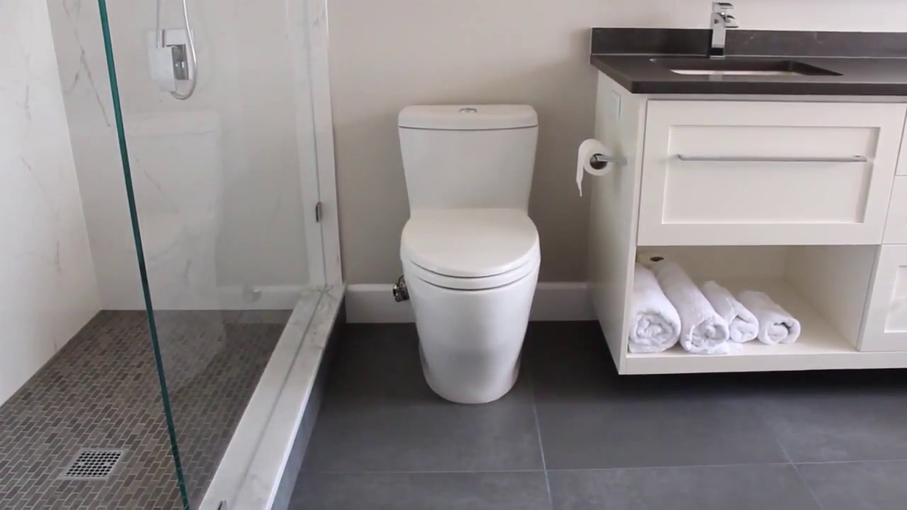 Bathroom Renovations Youtube before & after bathroom renovation project - north vancouver