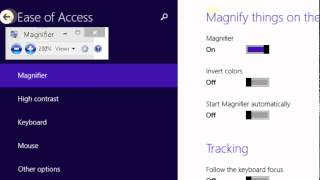 How to Start the Magnifier Automatically on Windows 8