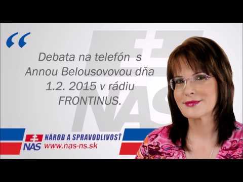 Anna Belousovová v rádiu Frontinus