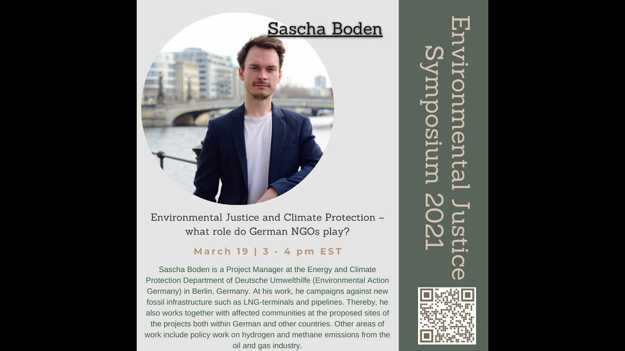 Environmental Justice and Climate Protection – what role do German NGOs play? by Sascha Boden