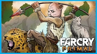 Far Cry Primal Funny Moments Gameplay! - Beasts, Lions, and Taking an Outpost! (FCP Funtage)