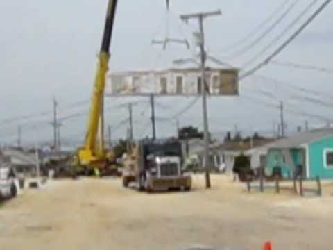 Modular House Being Set Into Place In Ocean Beach Iii Nj