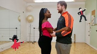 PROFESSIONAL LESSONS!! Choreographing Our First Dance|| Following M&T