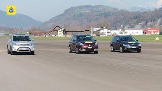 Test voitures familiales: Renault Grand Scénic, Skoda Octavia und Suzuki Vitara