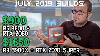 RYZEN 3000 BUILDS! $900 and $1650 Gaming Beasts - July 2019