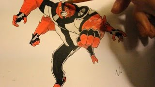 How To Draw Four/4 Arms From Ben 10 Alien Force|Step By Step