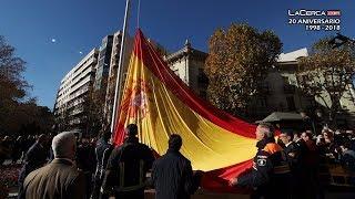 Izado de la Bandera de España en la Plaza de Gabriel Lodares de Albacete