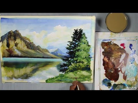 Acrylic Painting : How to Paint A Mountain Landscape | step by step