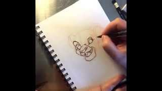 How to Draw Simba - Timelapse