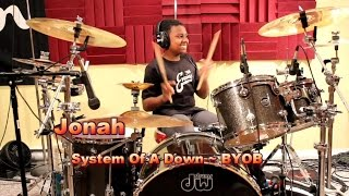 system of a down byob drum cover jonah age 12 soad