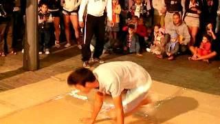 bboy marco vs bboy Yunes  / 2 on the floor battle ( break dance lanzarote)