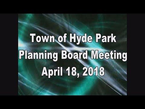 Hyde Park Planning Board 4-18-18