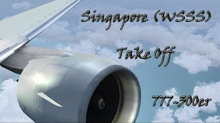 Singapore Take Off 777-300er FS2004  Singapore Airlines IVAO