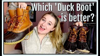 L.L.Bean Vs. Sperry | Which 'Duck Boot' is better?