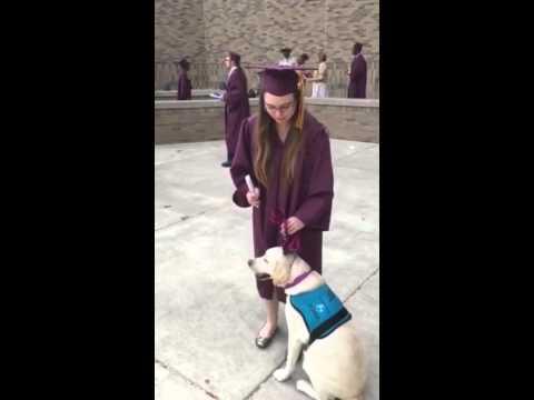 Seizure Dog Helps Graduation