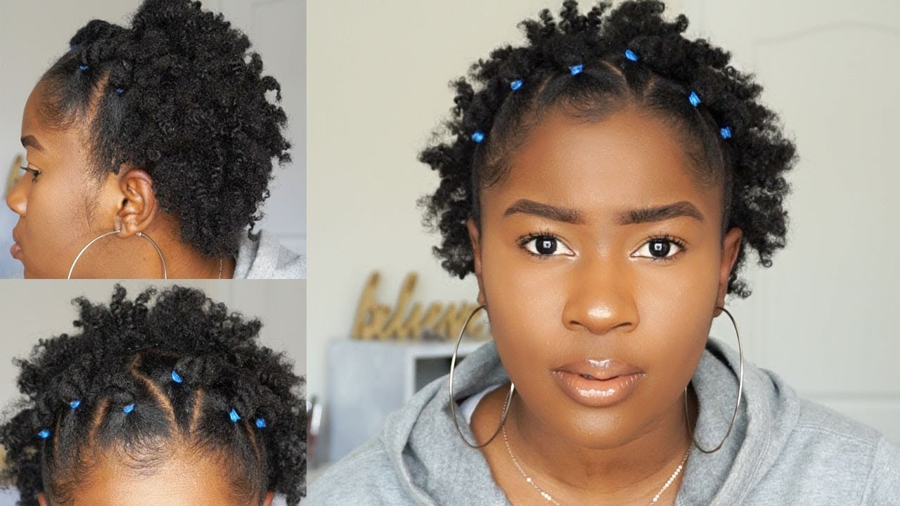4c Hairstyles Braids: EASY RUBBER BAND BANTU KNOT OUT STYLE ON SHORT 4C NATURAL