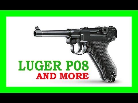 Showing a Luger P08, Ruger Mk I, Beretta 92, Kar98k [AIRSOFT]