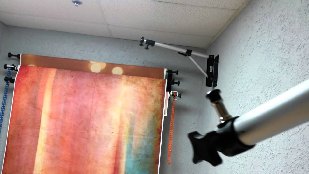 Wall mounted light stands in the studio youtube mozeypictures Choice Image