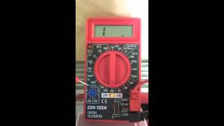 Using a Digital Multimeter to check a switch or fuses