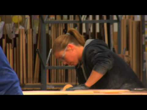 A look inside the Showplace Wood Products cabinet plant.