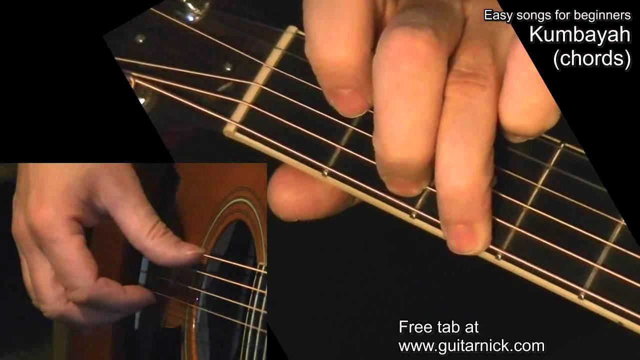Kumbayah Chords Guitar Lesson Tab By Guitarnick Youtube