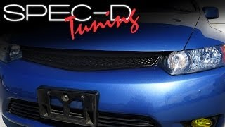 SPECDTUNING INSTALLATION VIDEO: 2006 - 2008 HONDA CIVIC 2 DOOR COUPE FRONT GRILL