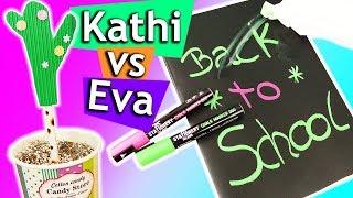 DIY SCHUL Ideen | Einfache Back to school DIYs zum selber machen Eva vs Kathi Sonntagschallenge #179