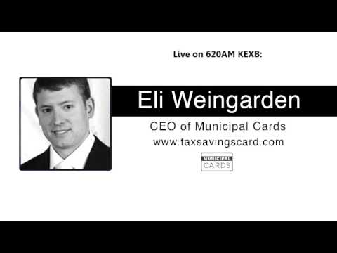 Eli Weingarden, CEO of Municipal Cards live on the radio in Dallas/Fort Worth