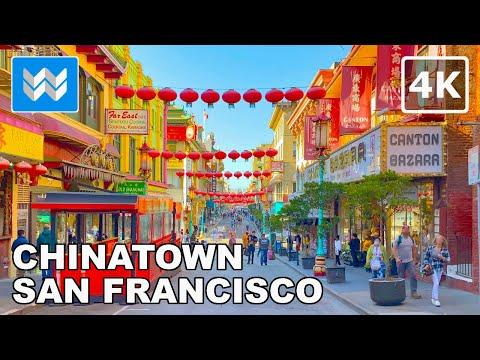 [4K] Chinatown in San Francisco, California USA – 2021 Walking Tour & Travel Guide 🎧 Binaural Sound