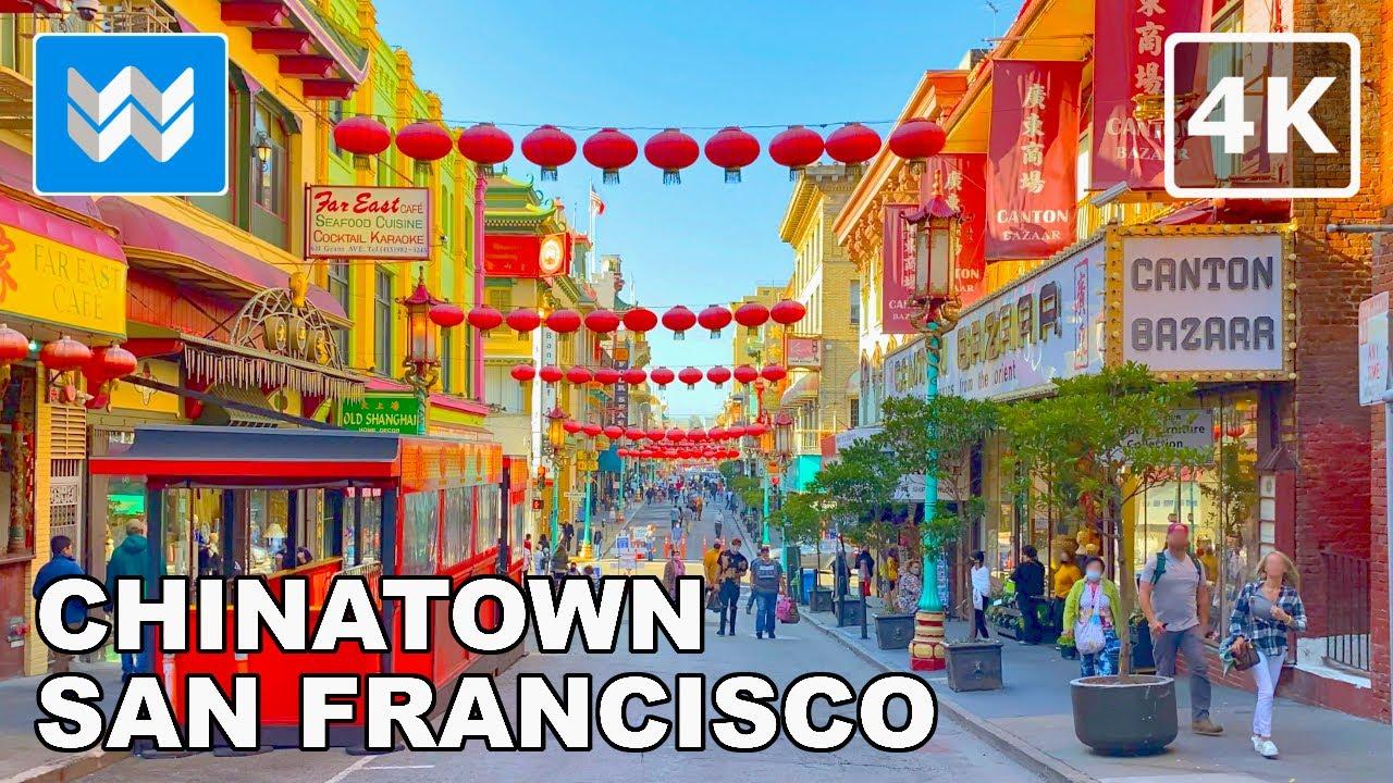 [4K] Chinatown in San Francisco, California USA - 2021 Walking Tour & Travel Guide 🎧 Binaural Sound