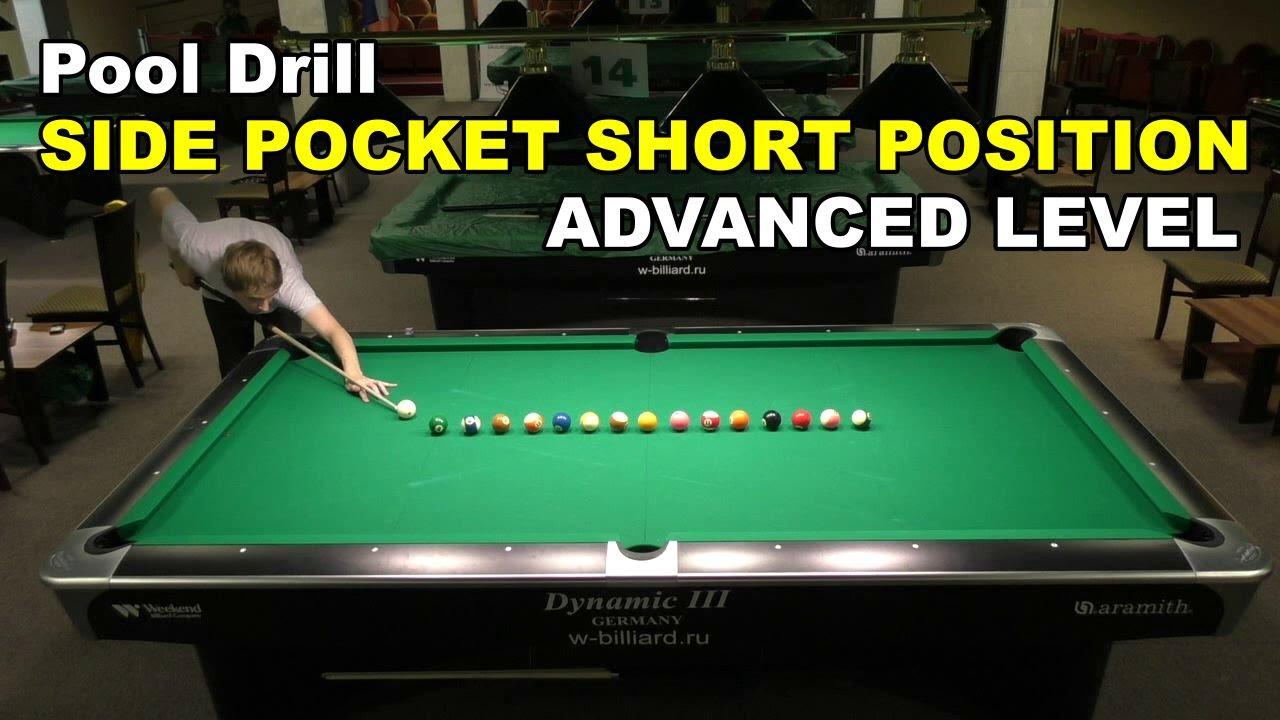 Side Pocket Short Position Advanced | Pool Billiard Drill by Evgeny Buslaev