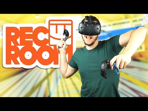 Paddleball, 3D Charades, and Paintball! - Rec Room Gameplay - Rec Room HTC Vive Virtual Reality