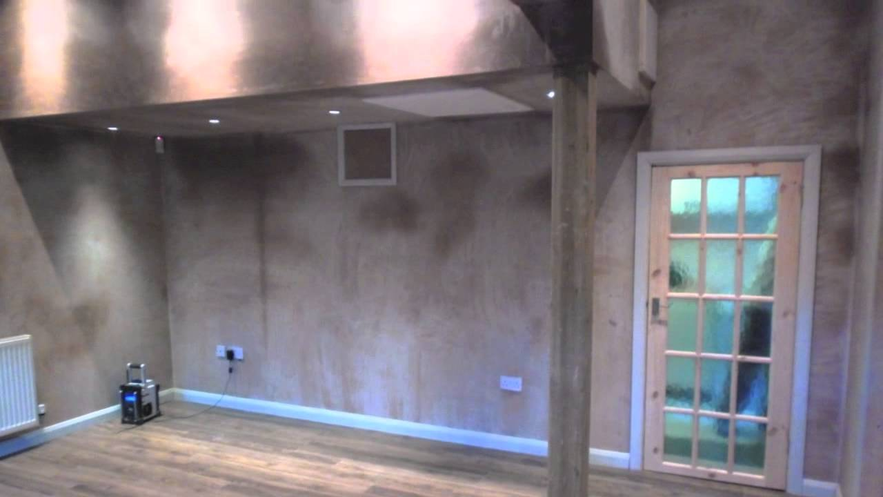 garage conversion into extra lounge for couples teenage sons - youtube