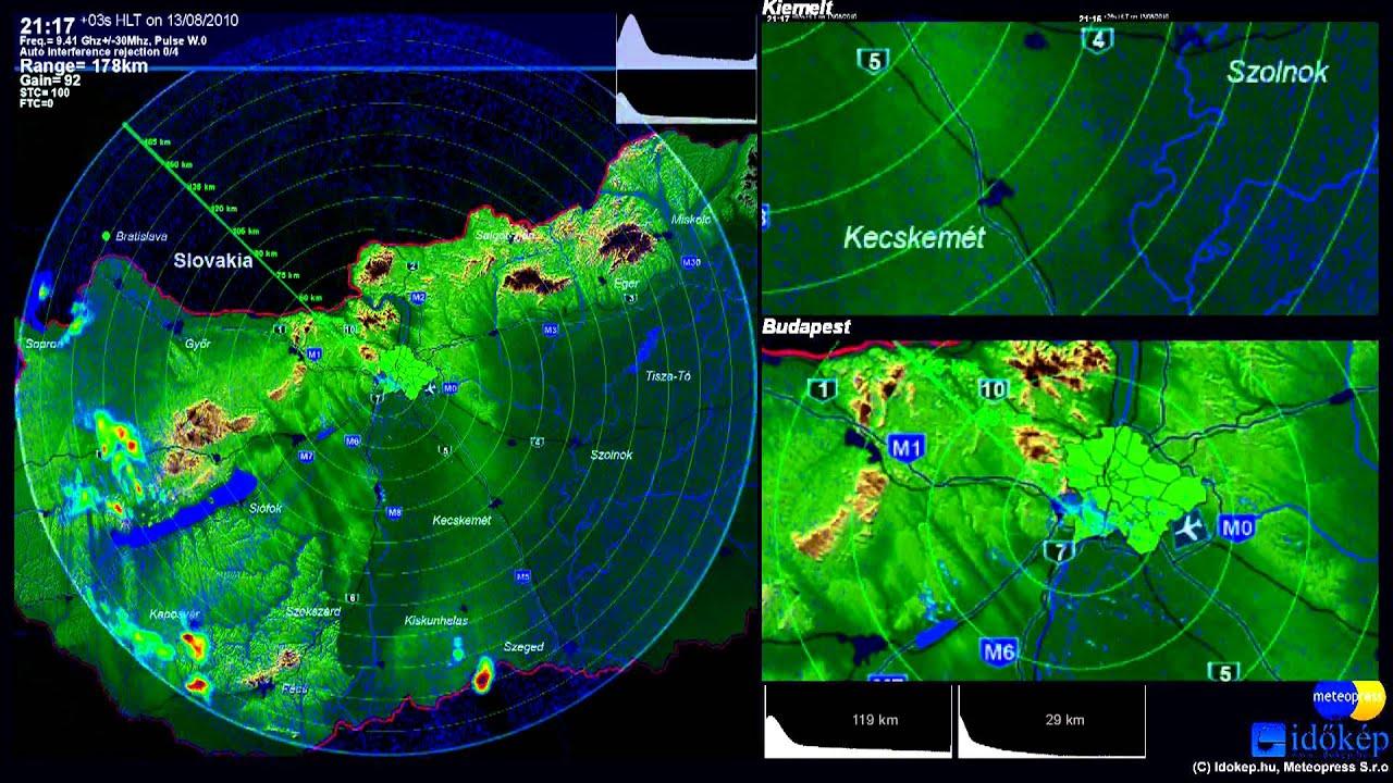 HD Weather Radar by Idokep-Meteopress 13/08/2010 - YouTube