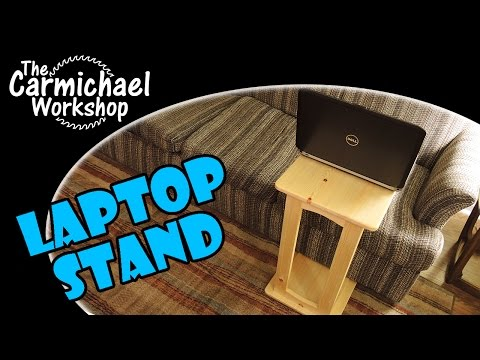 Laptop Stand, Snack Table, or Bedside Desk - Weekend Woodworking Project