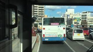 【前面展望】岡電バス国道53号辛香線免許センター行き(天満屋バスセンター→岡山駅→免許センター)