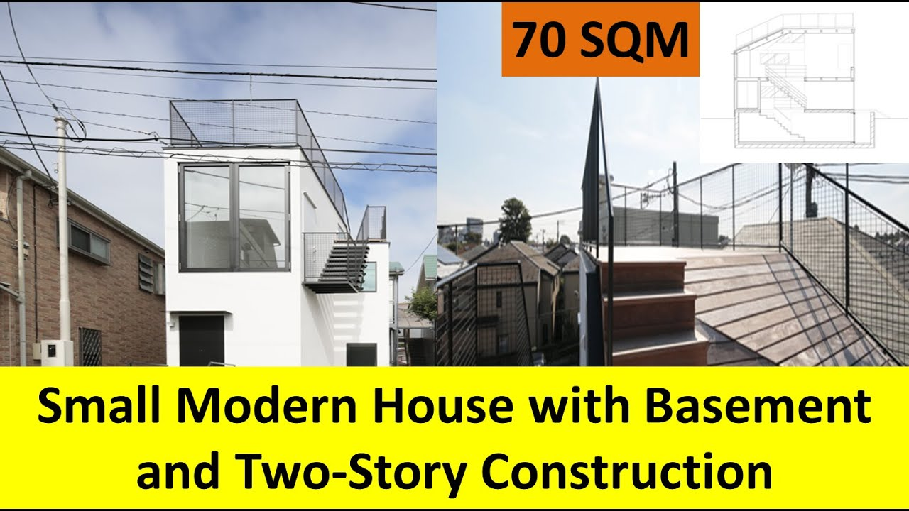 70 Sqm Small Modern House With Basement And Two Story