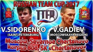 Кубок России - 2017 Сидоренко - Гадиев