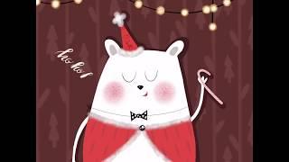 How to draw a Christmas bear? It's easy!  Как нарисовать новогоднюю иллюстрацию? Легко!