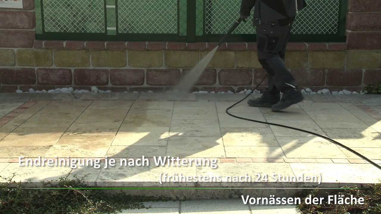 Gut gemocht Reinigung Terrassenplatten - YouTube NJ09