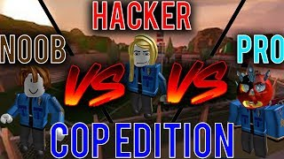 Noob vs Hacker vs Pro [Roblox Jailbreak Cop Edition]