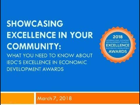 IEDC Awards - Showcasing Excellence in Your Community