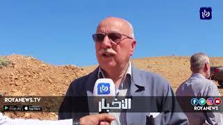 وزير الأشغال يتفقد موقع تحويلة جرش