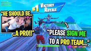 I met the biggest TRYHARD in Fortnite random duos... (HE SHOULD BE A PRO PLAYER!)