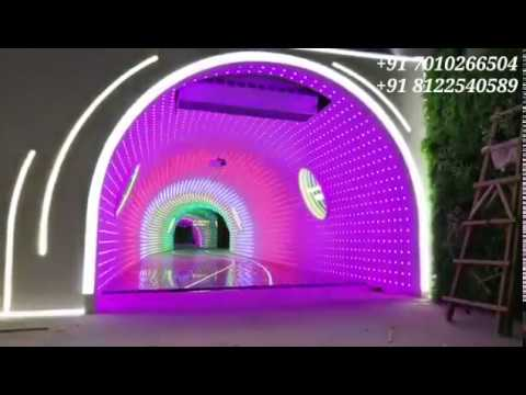 False ceiling LED Lighting Cave Entry Colorful Design interior Decor India  81225 40589