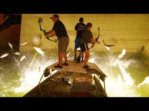 Bowfishing Below Barkley Dam With NASP Shooters