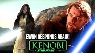 Star Wars! Ewan McGregor Responds To Obi Wan Kenobi Movie (Star Wars News)
